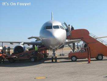 Airplane in Haiti Airport