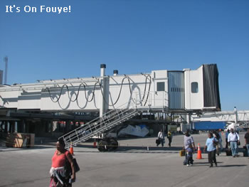 New airplane boarding gate Port Au Prince Haiti Airport