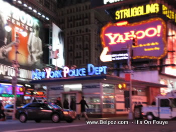 Yahoo Advertising times square