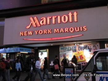 Mariott New York Marquis Hotel