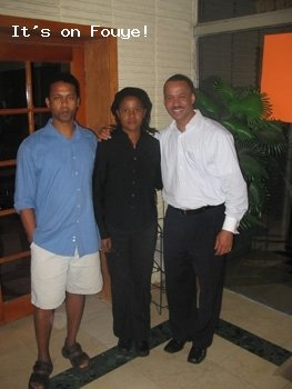 Edwidge Danticat, her husband, and Rene Godefroy