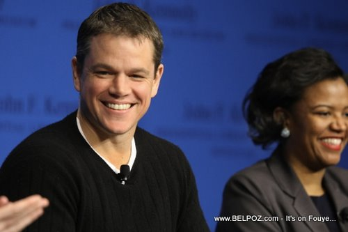 Linda Dorcena Forry, Matt Damon