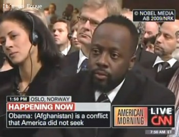 Wyclef Jean at Nobel Peace Prize Ceremony