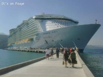 Oasis of the Sea Docked in Labadee Haiti