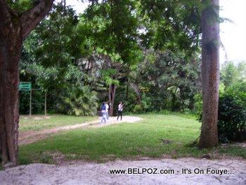 leaving the zoo in Haiti