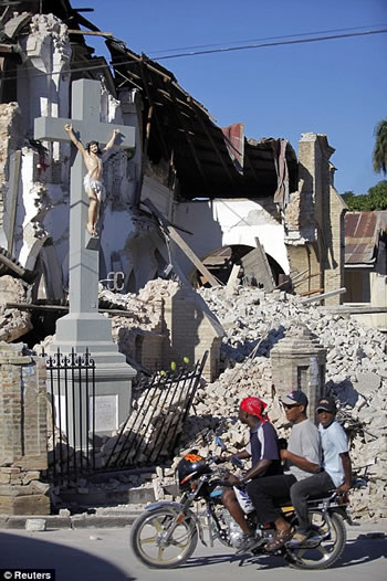 12 Janvier Haiti, The Church Collapsed But Jesus Cross Still Stands