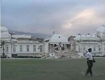 Haiti National Palace Collapsed