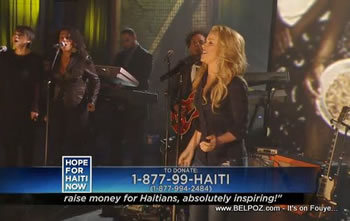 Shakira Hope For Haiti Now Telethon