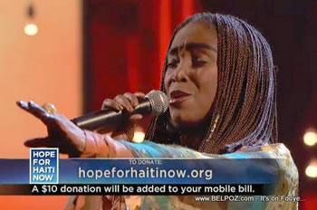 Emeline Michel Hope For Haiti Now Telethon
