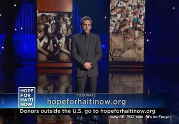 Ben Stiller Hope For Haiti Now Telethon