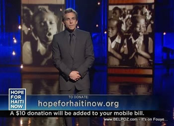 Ben Stiller Hope For Haiti Now Telethon