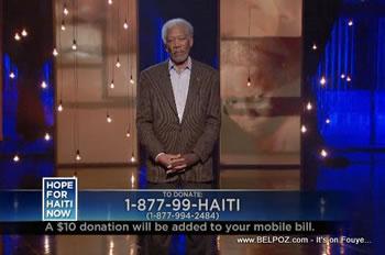 Morgan Freeman Hope For Haiti Now Telethon