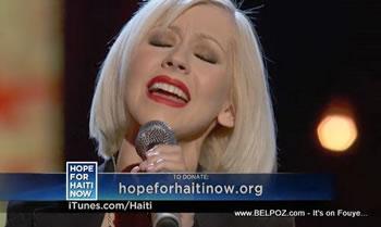 Christina Aguilera Hope For Haiti Now Telethon
