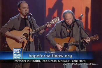 Dave Matthews Neil Young Hope For Haiti Now Telethon