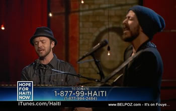 Justin Timberlake Hope For Haiti Now Telethon