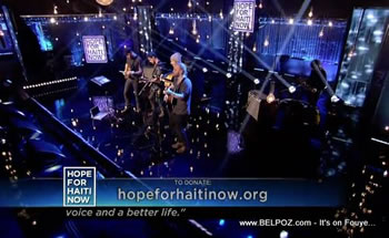 Coldplay Hope For Haiti Now Telethon