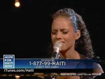 Alicia Keys Hope For Haiti Now Telethon