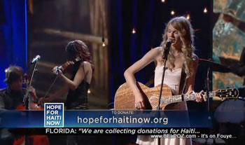 Taylor Swift Hope For Haiti Now Telethon
