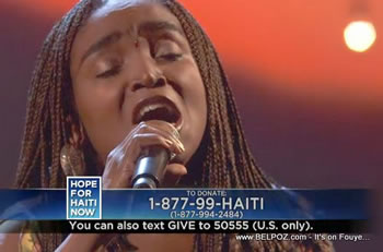 Emeline Michel Hope For Haiti Now Telethon