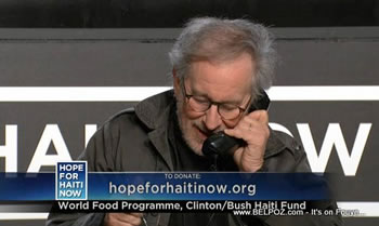 Steven Spielberg Hope For Haiti Now Telethon