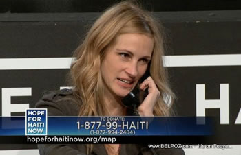 Julia Roberts Hope For Haiti Now Telethon