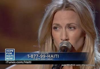 Sheryl Crow Hope For Haiti Now Telethon