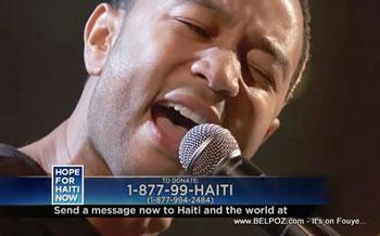 John Legend Hope For Haiti Now Telethon