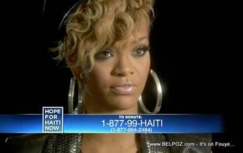 Rihanna Hope For Haiti Now Telethon
