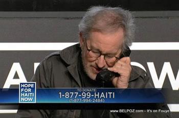 Steven Spielberg Hope For Haiti Now Telethon