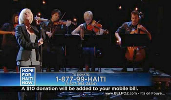 Christina Aguilera Hope For Haiti Now Telethon