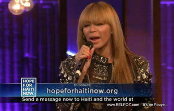 Beyonce Knowles Hope For Haiti Now Telethon