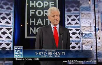 Bill Clinton Hope For Haiti Now Telethon