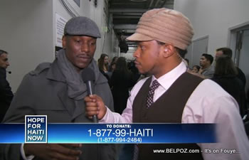 Tyrese Gibson MTV Sway Hope For Haiti Now Telethon