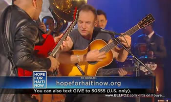 Sting Hope For Haiti Now Telethon