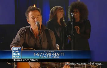 Bruce Springsteen Hope For Haiti Now Telethon
