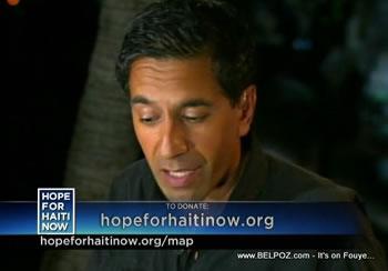 Sanjay Gupta Hope For Haiti Now Telethon