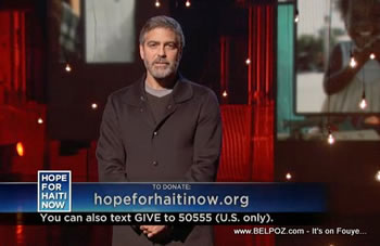 George Clooney Hope For Haiti Now Telethon