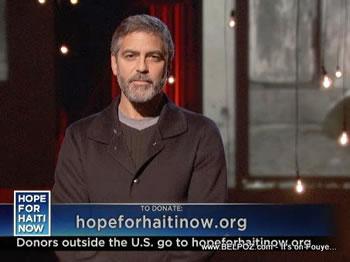 George Clooney Hope For Haiti Now Telethon