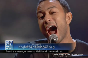 John Legend Hope For Haiti Now Telethon