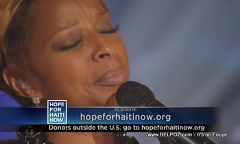Mary J Blige Hope For Haiti Now Telethon