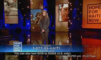 Nicole Kidman Hope For Haiti Now Telethon