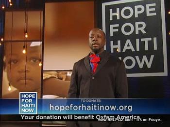 Stevie Wonder Hope For Haiti Now Telethon