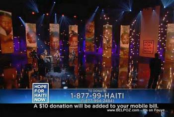 Sheryl Crow Keith Urban Kid Rock Hope For Haiti Now Telethon