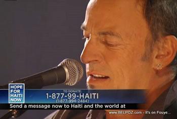 Bruce Springsteen Hope For Haiti Now Telethon