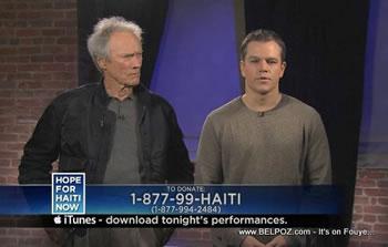 Clint Eastwood Matt Damon Hope For Haiti Now Telethon