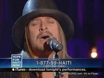 Kid Rock Hope For Haiti Now Telethon
