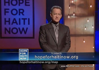 Tom Hanks Hope For Haiti Now Telethon