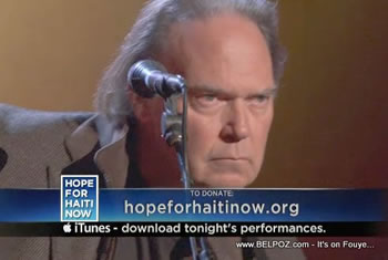 Neil Young Hope For Haiti Now Telethon