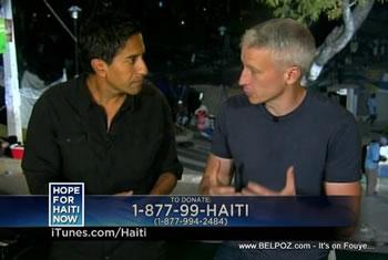 Sanjay Gupta Anderson Cooper Hope For Haiti Now Telethon