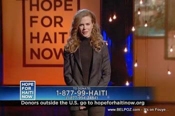 Nicole Kidman Hope For Haiti Now Telethon